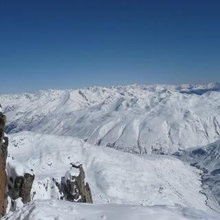 Blick vom Gipfel ins Urserental