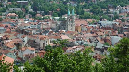 Vom Diezhäuschen aus eröffnet sich ein großartiger Blick auf Meiningen.