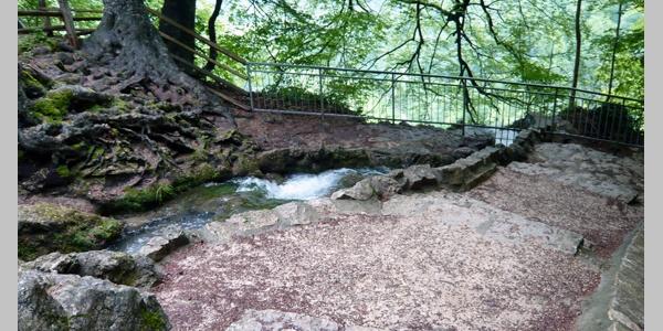 Der Uracher Wasserfall.
