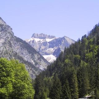 Blick auf den 2268 m hohen Schneck.