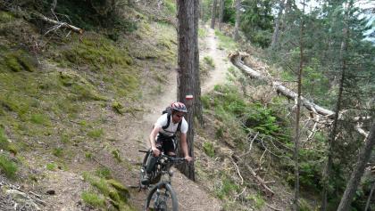 Steile Downhillpassage.