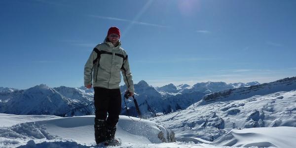 Am Gipfel des Toreck im Winter