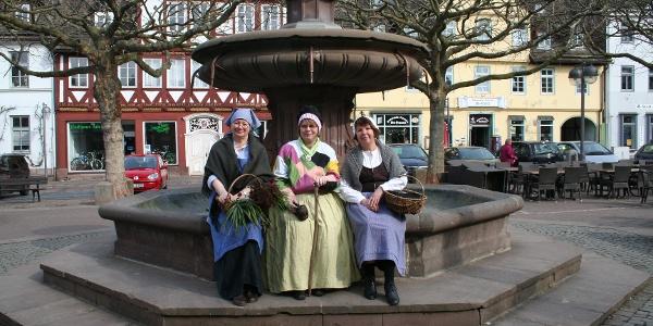 Marktbrunnen auf dem Marktplatz in Holzminden