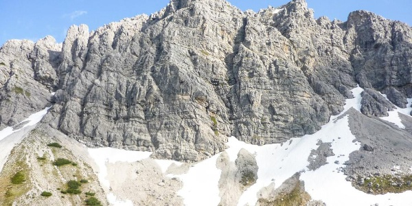 Die Lachenspitze Nord-West Wand - hier führt auch ein Klettersteig durch