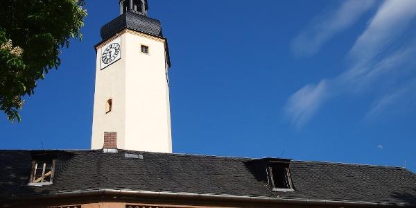Der Schlossturm des Oberen Schlosses Greiz