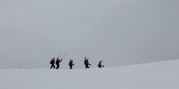 Auf dem Schneegrat