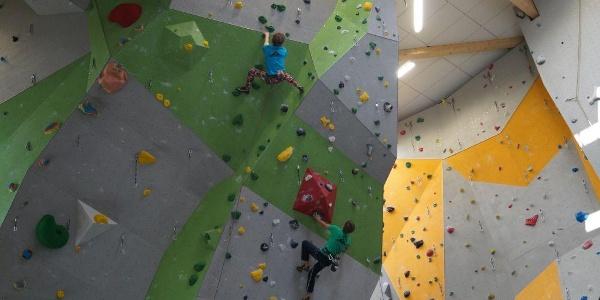 DAV Kletterzentrum Berlin: Blick in die große Halle