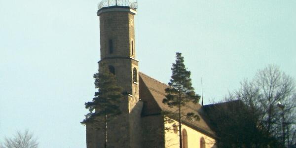 Blick von Spaichingen zur Dreifaltigkeitskirche