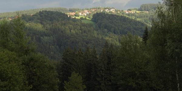 Der Ausblick von der Ortschaft Marienhöhe.