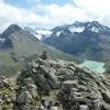 Blick von der Bieler Spitze in die Silvretta mit dem Kleinen und Großen Buin