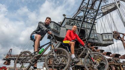 Radfahrer in Ferropolis