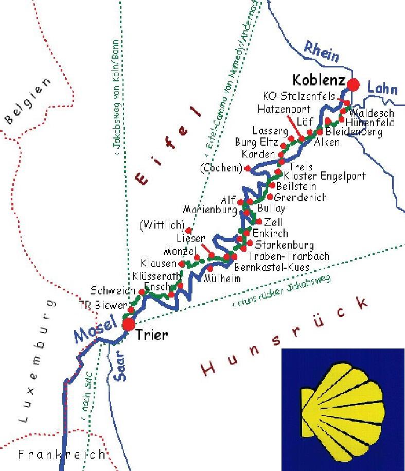 Mosel Camino Ein Jakobsweg Von Koblenz Stolzenfels Nach Trier St