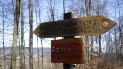 Wegweoser am Schweineberg