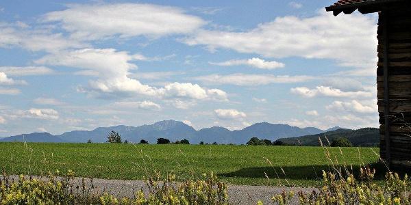 Alpenpanorame bei Habach