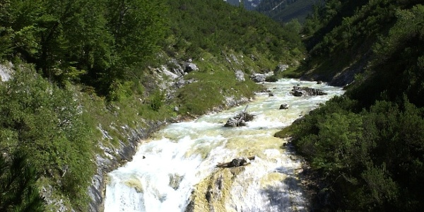 Die Aussicht vom Karwendelsteg
