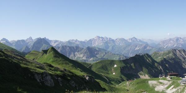 Ein Blick in die Allgäuer Bergwelt.