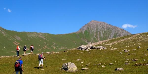 Hochtal mit Blick zum Gipfel