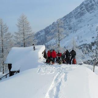 Die Berglerhütte, kaum zu sehen