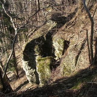 Die Geologischen Orgeln nahe Bossarts bei Ottobeuren.