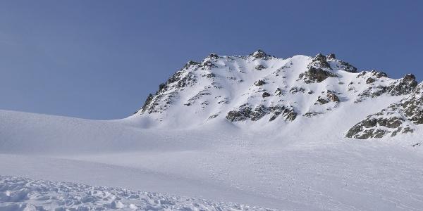 Jamtalferner, Blick auf die Vordere Jamspitze