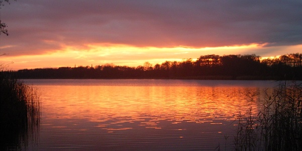 Sonnenuntergang am Zeesener See