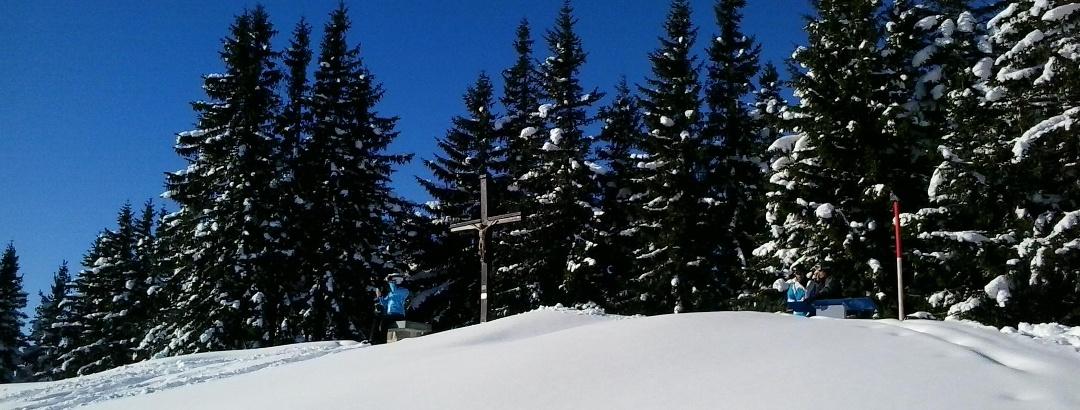 Eine Pause im Schnee muss sein