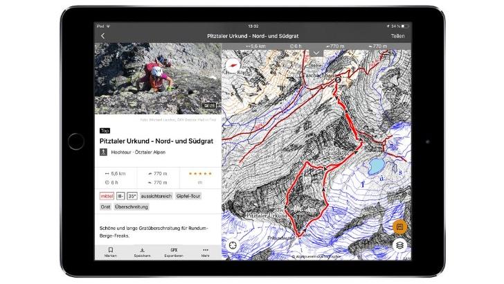 Tourenbeschreibungen für verschiedenste Bergaktivitäten