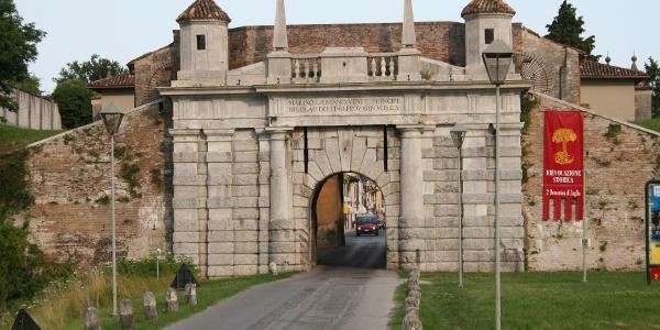 The three monumental gates of Palmanova • Historical Site