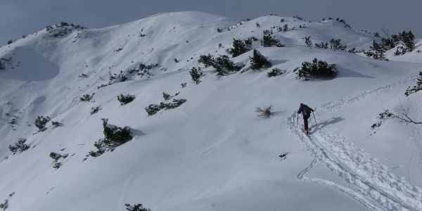 Zustieg zum Gipfelstock