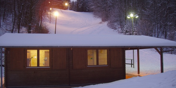 Skifahren bei Flulicht