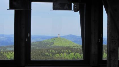 Auf dem Böhmerwaldturm, Aussicht zum Velky Zvon, Tschechien