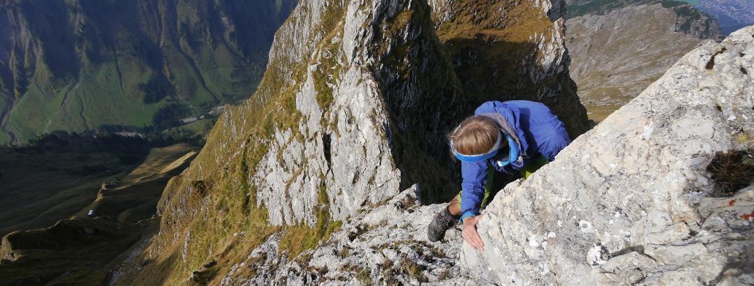 Besteigung des Höfats Gipfels