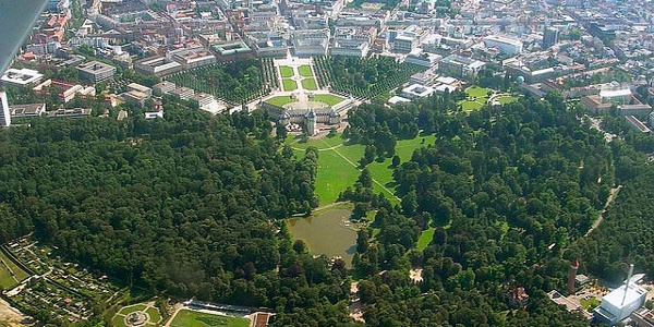 Karlsruhe Ansicht der Fächerstadt