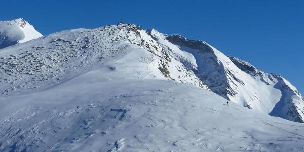 Der meist abgeblasene Gipfel der Wildseespitz