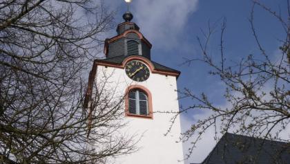 Kirchturm der ev. Kirche in Kleinich