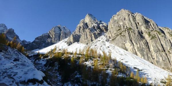 Früher Wintereinbruch in den Lienzer Dolomiten