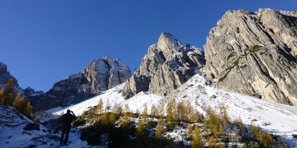 Aufstieg zur Karlsbader Hütte