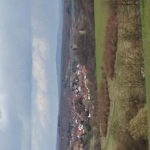Blick auf Burg Sponheim