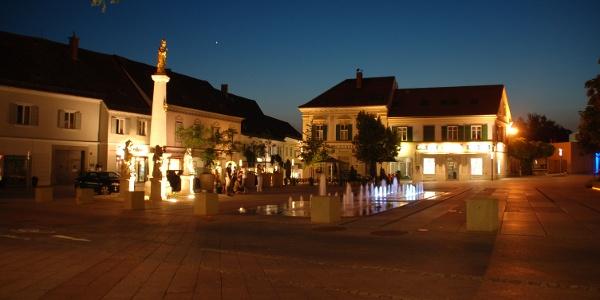 Abendstimmung am hauptplatz von Gleisdorf