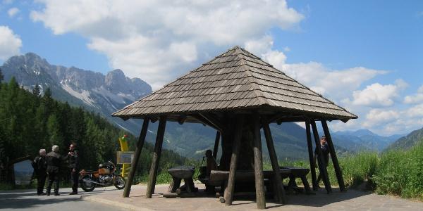 Voilá, der Schaidasattel auf 1068 m