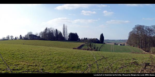 Landschaft in Osterholz bei Schöller, Wuppertal, Bergisches Land, NRW, Deutschland