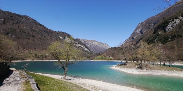 Blick über den Lago di Tenno