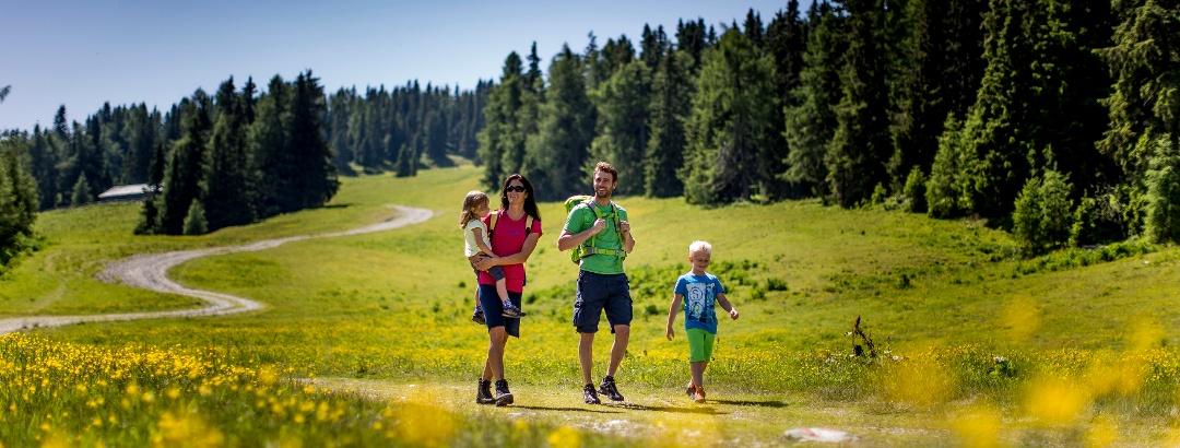 Senderismo con niños en Frauenalpe