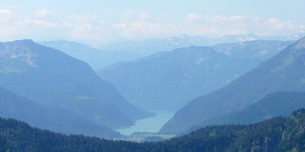 Blick Richtung Achensee nach Tirol