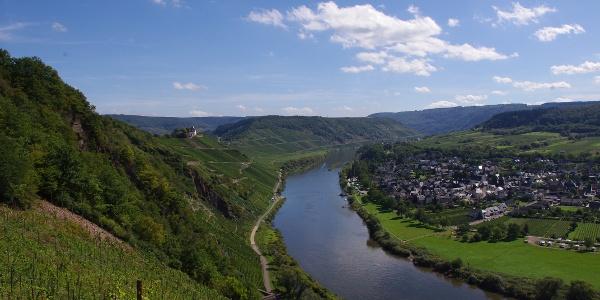 Blick auf Pünderich und die Marienburg