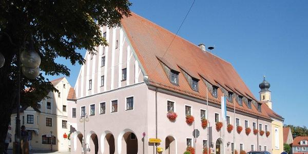 Rathaus in Neustadt a. d. Donau im Hopfenland Hallertau