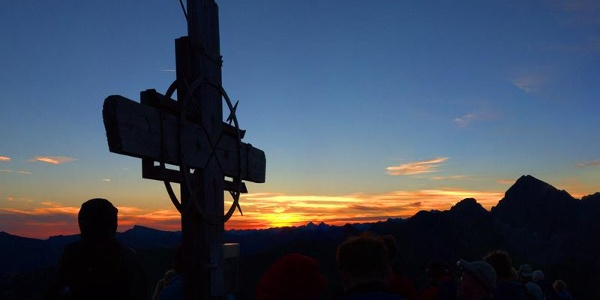 Sonnenaufgang Zafernhorn Faschina