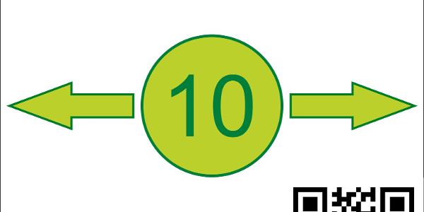 Startschild Weg 10
