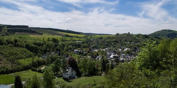 Blick auf Oberkirchen im Hochsauerland