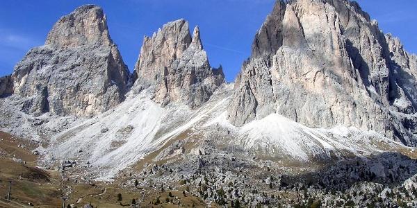 Grohmannspitze, Fünffingerspitze und Langkofel
